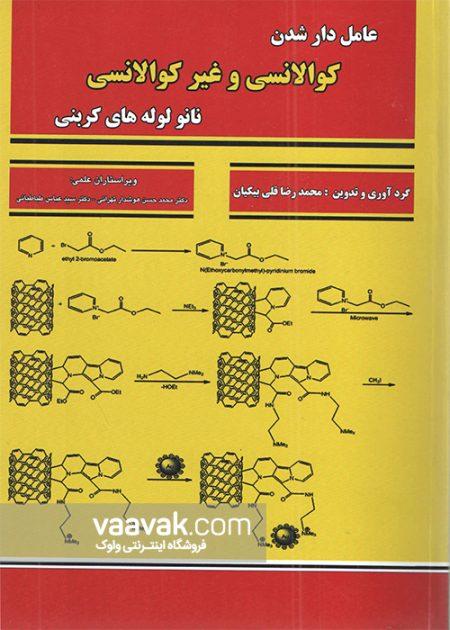 تصویر روی جلد کتاب عاملدار شدن کوالانسی و غیرکوالانسی نانولولههای کربنی