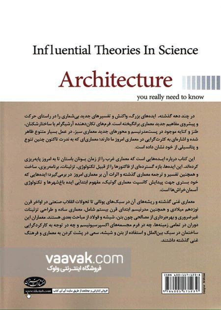 تصویر پشت جلد کتاب نظریههای تاثیرگذار در علم معماری