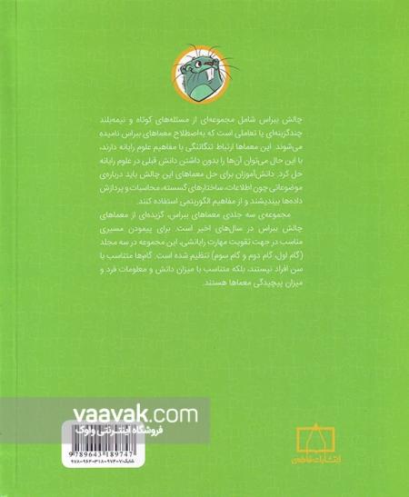 تصویر پشت جلد کتاب معماهای ببراس در مفاهیم علوم رایانه و تفکر رایانشی (گام دوم)