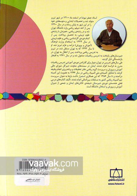 تصویر پشت جلد کتاب مسائلی در هندسهی مسطحه